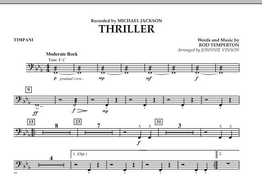 Thriller - Timpani (Concert Band: Flex-Band)
