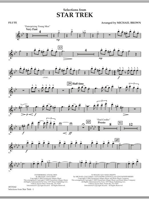 Selections from Star Trek - Flute (Concert Band)