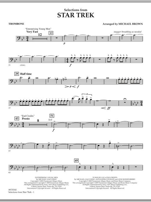 Selections from Star Trek - Trombone (Concert Band)