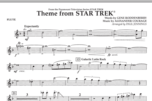 Theme from Star Trek (TV Series) - Flute (Concert Band)
