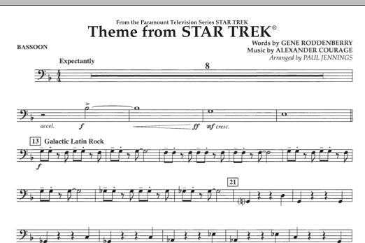 Theme from Star Trek (TV Series) - Bassoon (Concert Band)