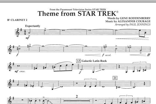 Theme from Star Trek (TV Series) - Bb Clarinet 2 (Concert Band)