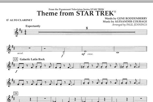Theme from Star Trek (TV Series) - Eb Alto Clarinet (Concert Band)