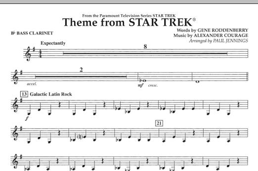 Theme from Star Trek (TV Series) - Bb Bass Clarinet (Concert Band)