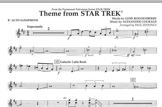 Theme from Star Trek (TV Series) - Eb Alto Saxophone (Concert Band)