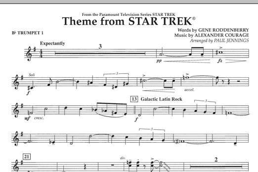 Theme from Star Trek (TV Series) - Bb Trumpet 1 (Concert Band)