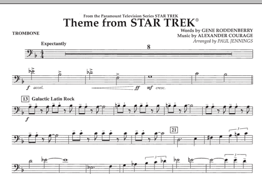 Theme from Star Trek (TV Series) - Trombone (Concert Band)