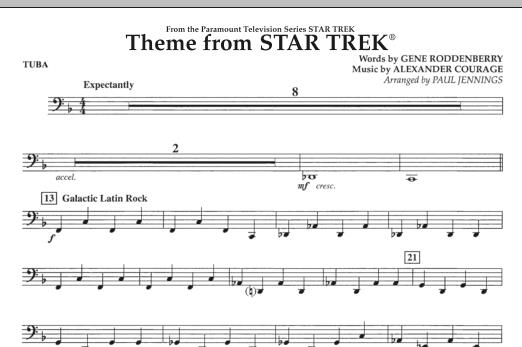 Theme from Star Trek (TV Series) - Tuba (Concert Band)