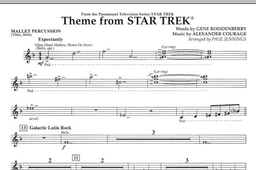 Theme from Star Trek (TV Series) - Mallet Percussion (Concert Band)
