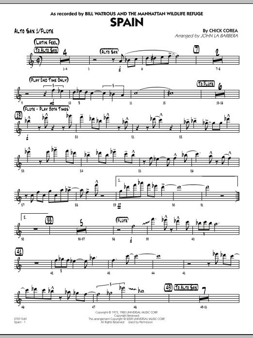 Spain - Alto Sax 1/Flute (Jazz Ensemble)