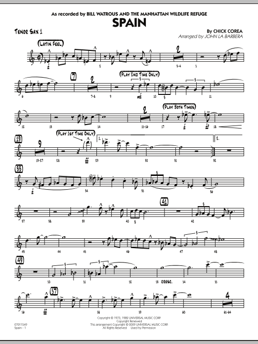 Spain - Tenor Sax 1 (Jazz Ensemble)