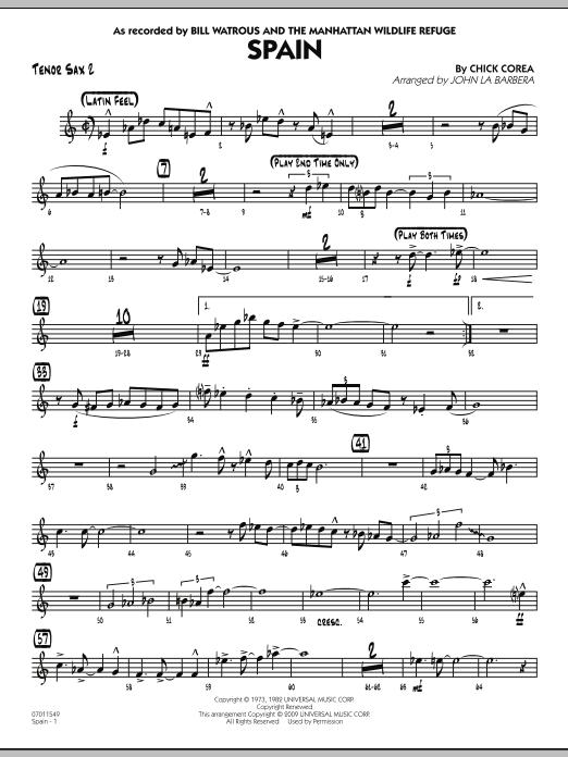 Spain - Tenor Sax 2 (Jazz Ensemble)
