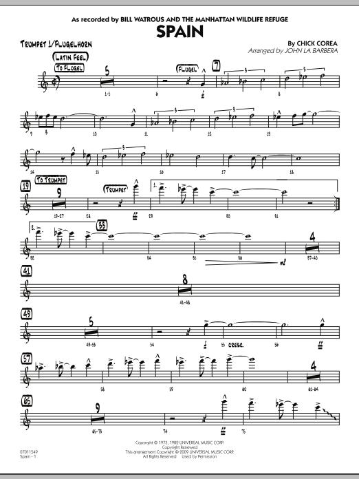 Spain - Trumpet 1/Flugelhorn (Jazz Ensemble)