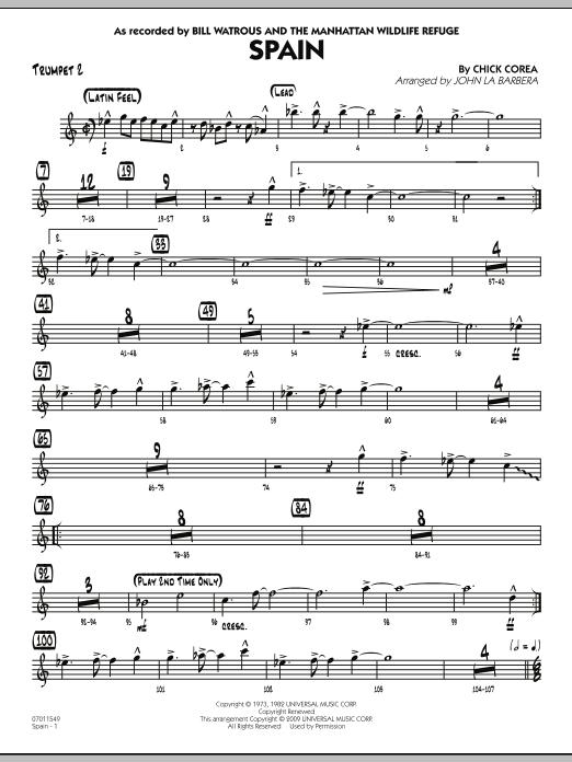 Spain - Trumpet 2 (Jazz Ensemble)