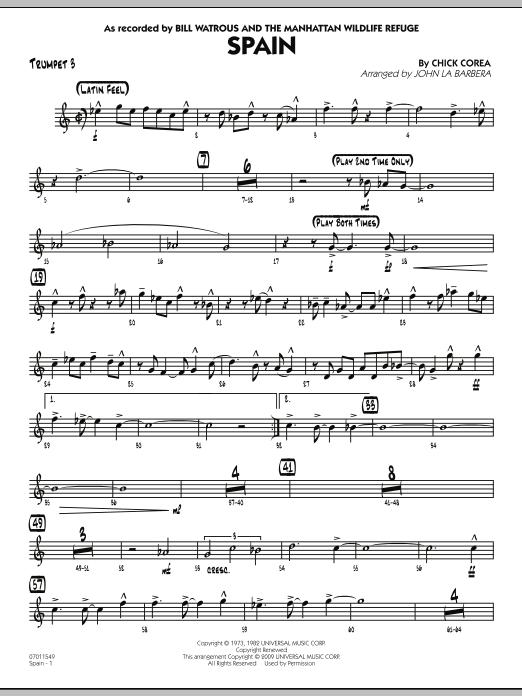 Spain - Trumpet 3 (Jazz Ensemble)