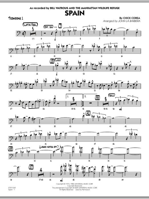 Spain - Trombone 1 (Jazz Ensemble)