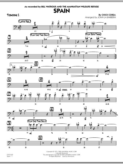 Spain - Trombone 2 (Jazz Ensemble)