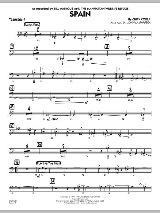Spain - Trombone 4 (Jazz Ensemble)