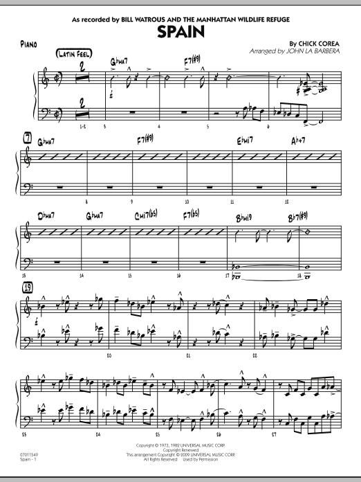 Spain - Piano (Jazz Ensemble)