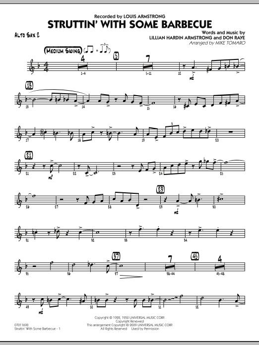 Struttin' with Some Barbecue - Alto Sax 2 (Jazz Ensemble)
