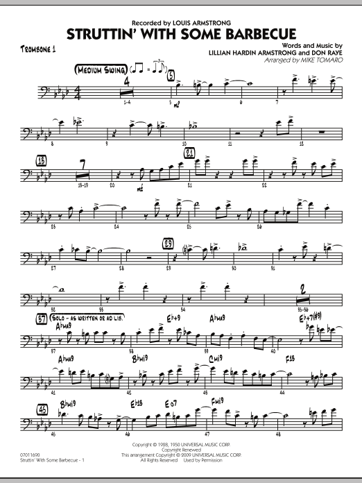 Struttin' with Some Barbecue - Trombone 1 (Jazz Ensemble)