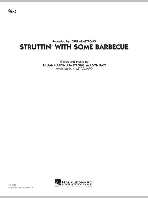 Struttin' with Some Barbecue - Piano (Jazz Ensemble)