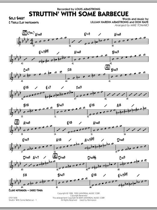Struttin' with Some Barbecue - C Solo Sheet (Jazz Ensemble)