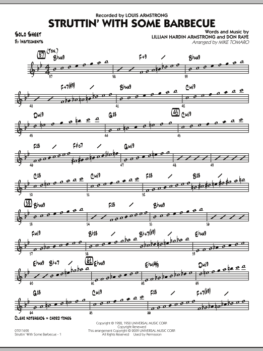 Struttin' with Some Barbecue - Bb Solo Sheet (Jazz Ensemble)