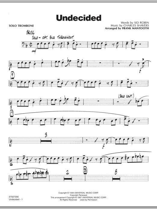 Undecided - Solo Trombone (Jazz Ensemble)