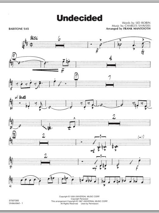 Undecided - Baritone Sax (Jazz Ensemble)