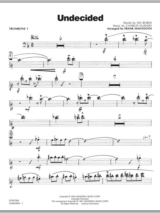 Undecided - Trombone 1 (Jazz Ensemble)