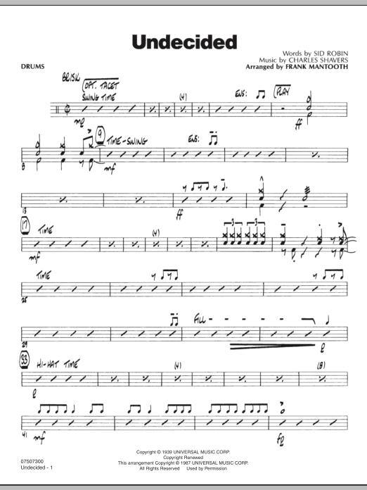 Undecided - Drums (Jazz Ensemble)