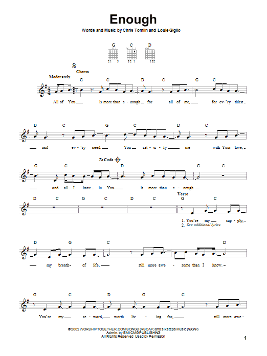 Enough (Easy Guitar)
