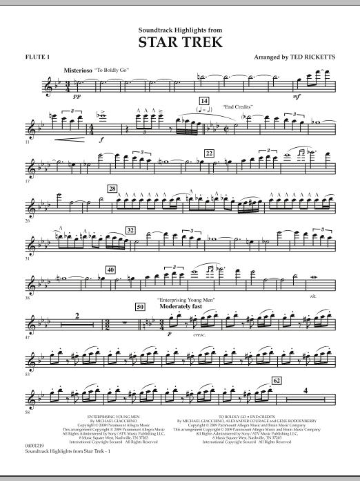 Star Trek - Soundtrack Highlights - Flute 1 (Concert Band)