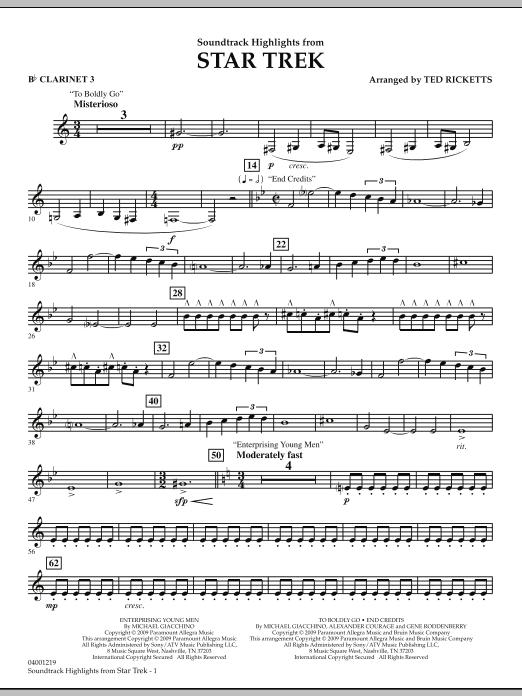 Star Trek - Soundtrack Highlights - Bb Clarinet 3 (Concert Band)