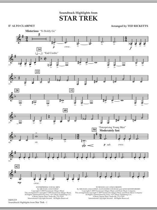 Star Trek - Soundtrack Highlights - Eb Alto Clarinet (Concert Band)