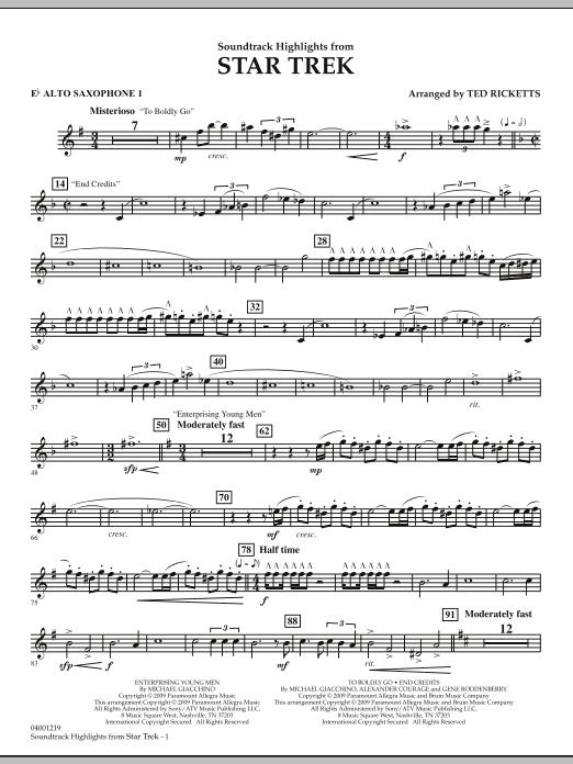 Star Trek - Soundtrack Highlights - Eb Alto Saxophone 1 (Concert Band)
