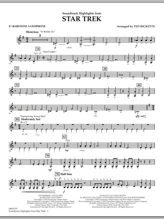 Star Trek - Soundtrack Highlights - Eb Baritone Saxophone (Concert Band)