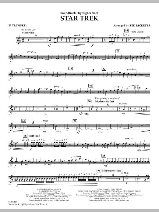 Star Trek - Soundtrack Highlights - Bb Trumpet 1 (Concert Band)