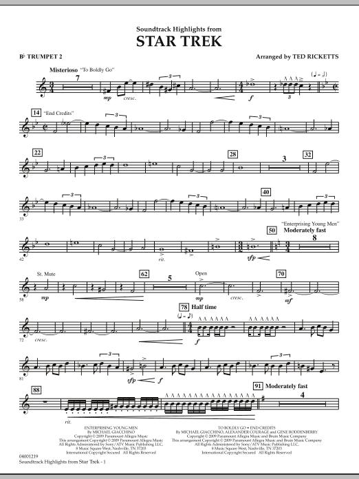Star Trek - Soundtrack Highlights - Bb Trumpet 2 (Concert Band)