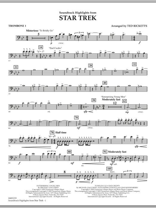 Star Trek - Soundtrack Highlights - Trombone 1 (Concert Band)