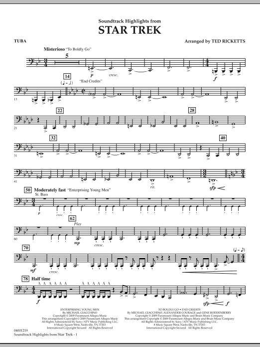 Star Trek - Soundtrack Highlights - Tuba (Concert Band)