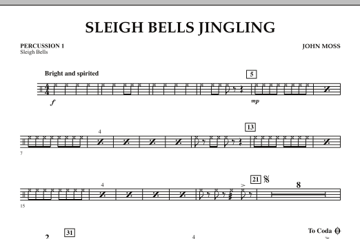 Sleigh Bells Jingling - Percussion 1 (Orchestra)