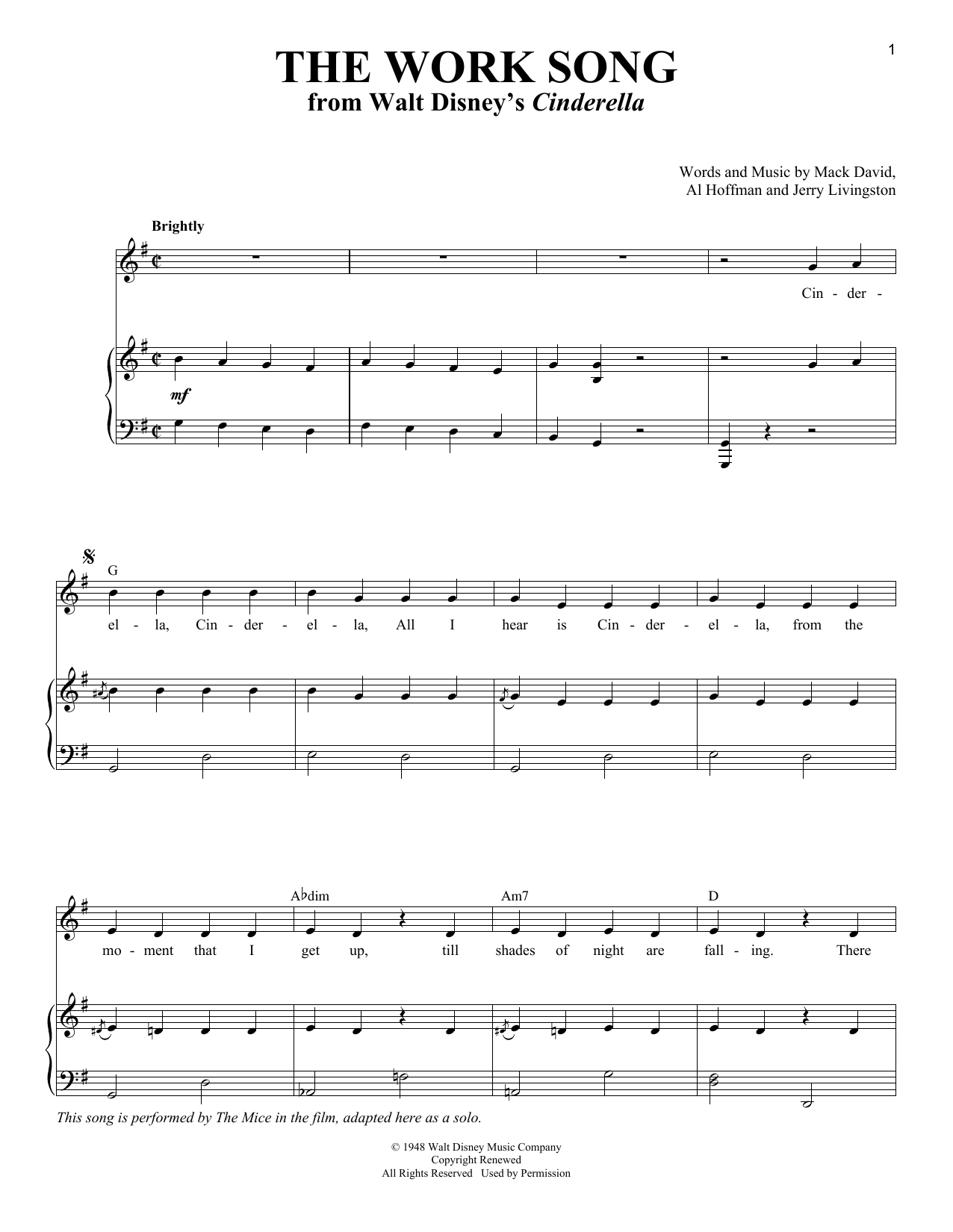 The Work Song Sheet Music