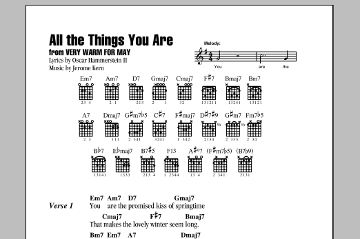 All The Things You Are Sheet Music Direct