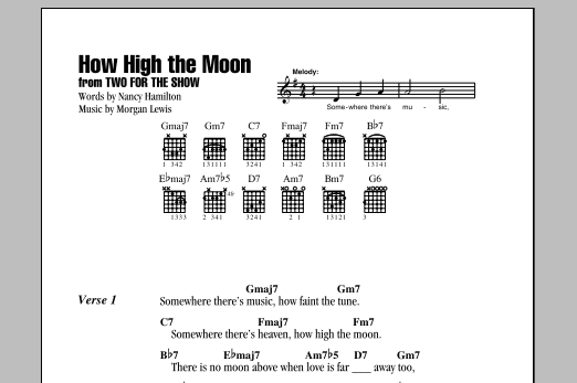 How High The Moon Sheet Music Direct