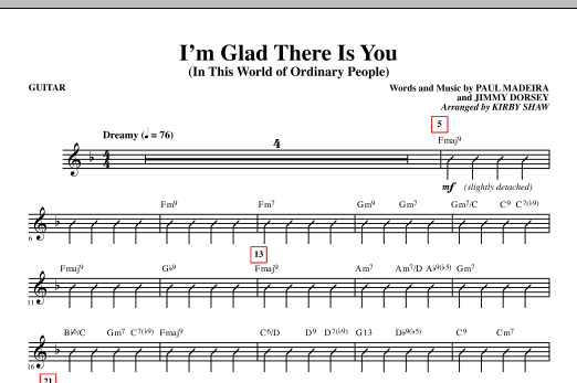 I'm Glad There Is You (In This World of Ordinary People) - Guitar (Choir Instrumental Pak)