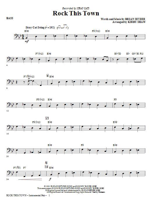 Rock This Town - Bass (Choir Instrumental Pak)