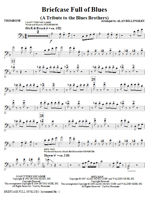 Briefcase Full Of Blues (A Tribute to the Blues Brothers) - Trombone Sheet Music