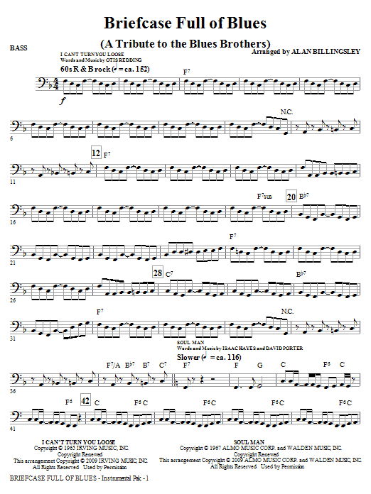 Briefcase Full Of Blues (A Tribute to the Blues Brothers) - Bass (Choir Instrumental Pak)